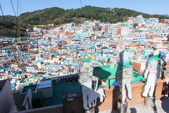 Деревня культуры Gamcheon, Пусан, Корея Стоковая Фотография RF
