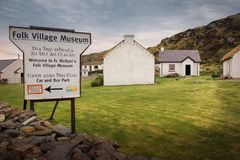 Деревня людей Glencolumbkille Графство Donegal Ирландия стоковое изображение