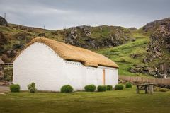Деревня людей Glencolumbkille Графство Donegal Ирландия стоковые фотографии rf