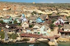 Деревня Мальта Poppey Стоковое Изображение