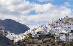 Деревня на вершине холма Mojacar Стоковое Изображение RF