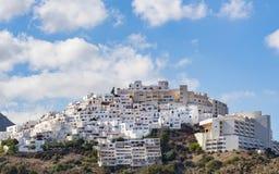 Деревня на вершине холма Mojacar Стоковое фото RF