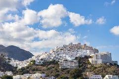 Деревня на вершине холма Mojacar Стоковое Фото