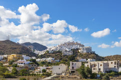 Деревня на вершине холма Mojacar Стоковая Фотография RF