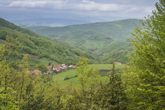 Деревня на горе Стоковое фото RF