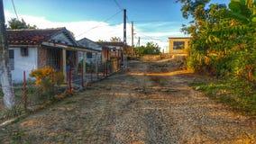 Деревня на ногах горы Стоковое фото RF