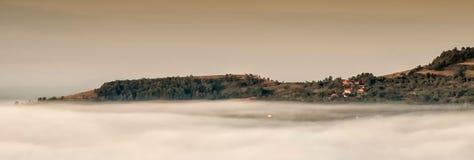 Деревня над облаками Стоковые Изображения