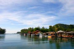 Деревня на острове Chang Koh Стоковые Фотографии RF
