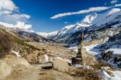 Деревня на треке Annapurna Стоковые Изображения