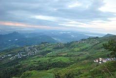 Деревня на phetchabun berk ушата Phu горы стоковое изображение rf