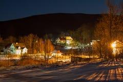Деревня ночи Synyak Стоковая Фотография