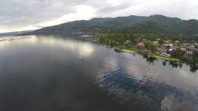 Деревня озером видеоматериал