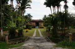 Деревня дома Азии Малайзии Индонезии деревянная Стоковые Изображения RF