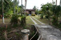 Деревня дома Азии Малайзии Индонезии деревянная Стоковая Фотография
