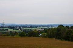 Деревня от высоты Справочная информация Стоковая Фотография