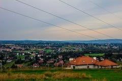 Деревня от высоты Справочная информация Стоковые Фотографии RF
