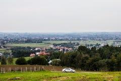 Деревня от высоты Справочная информация Стоковая Фотография RF
