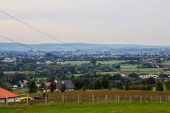 Деревня от высоты Справочная информация Стоковые Фото