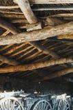 Деревня полиняла с деревянным потолком стоковая фотография rf