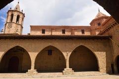 Деревня провинция Mirambel, Теруэль, Испания стоковое фото rf