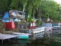 Деревня реки JPEG Стоковое фото RF