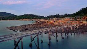 Деревня рыболова моста стоковые изображения