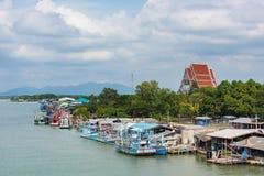 Деревня рыболова на провинции Chanthaburi, Таиланде Стоковые Изображения