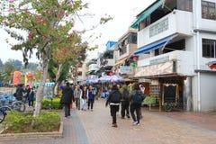 Деревня рыб на Cheung Chau стоковые изображения rf