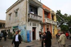 Деревня рыб на Cheung Chau стоковые фотографии rf
