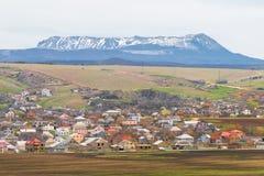 Деревня с красочными крышами Стоковое Изображение RF