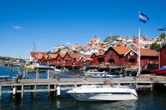 Деревня туриста Швеции Bohuslan стоковое изображение