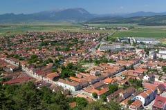 Деревня увиденная сверху Стоковые Изображения RF