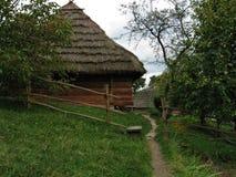 Деревня украинца вечера стоковое фото