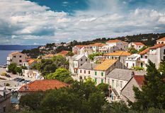 Деревня Хорватия Sumartin Стоковое фото RF