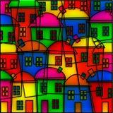 Деревня цветного стекла Стоковые Изображения
