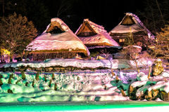 Деревня людей Hida стоковая фотография