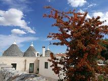 Деревня Alberobello в южной Италии Стоковое фото RF