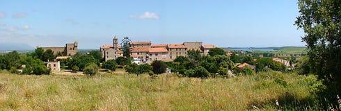 Деревня Aleria в Corsiaca стоковая фотография rf