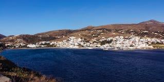 Деревня Andros Batsi Стоковое Изображение RF