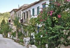 Деревня Assos, остров Kefalonia, Ionian острова, Греция Стоковая Фотография