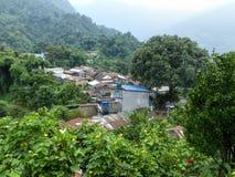 Деревня Bahundanda в Непале Стоковое Фото