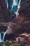 Деревня Berber около водопада Ouzoud в Марокко Стоковое Изображение RF