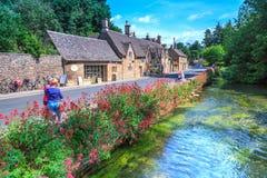 Деревня Bibury, Англия Стоковые Изображения RF