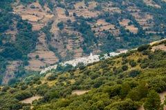 Деревня Capileira увиденная сверху Стоковое Изображение RF