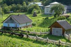 Деревня Carpatian стоковое изображение