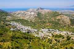 Деревня Chalki, остров Naxos, Киклады, эгейские, Греция Стоковое Изображение