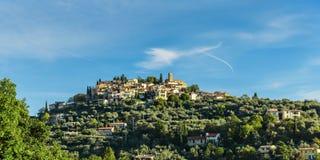 Деревня Coaraze горы старая, Провансаль Alpes Cote d'Azur стоковое фото rf