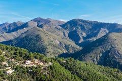 Деревня Coaraze горы старая, Провансаль Alpes Cote d'Azur, Франция стоковое фото rf