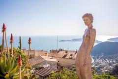 Деревня Eze в Провансали, французе Стоковое Изображение