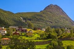 Деревня Geiranger в Норвегии Стоковое Фото